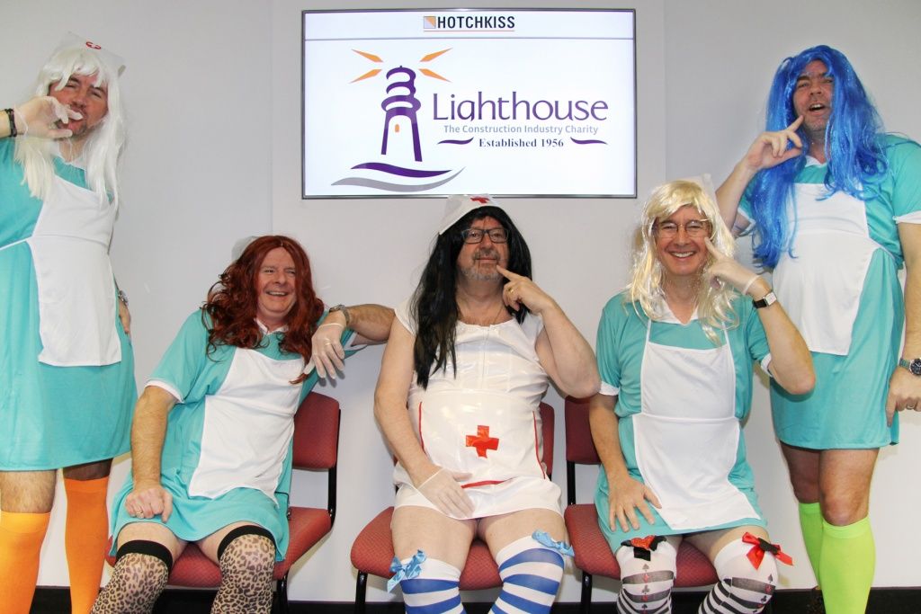 Hotchkiss Directors dressed up as nurses for Lighthouse Day (any excuse!), raising pulses and £3700 in the process!